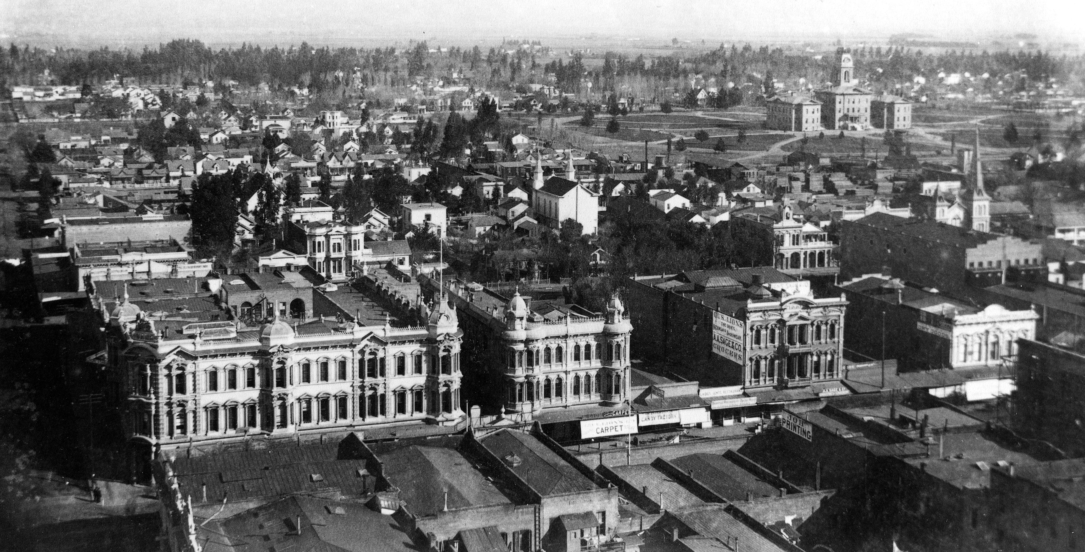 Aerial view of San Jose State in 1892.