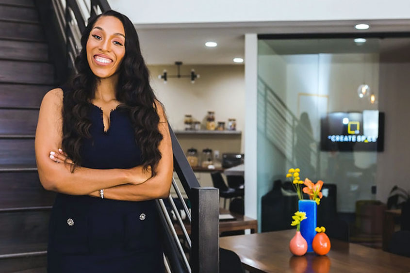 Marisa Johnson, '09 Marketing, is the co-founder of La Create Sp_ce in Inglewood, Calif.