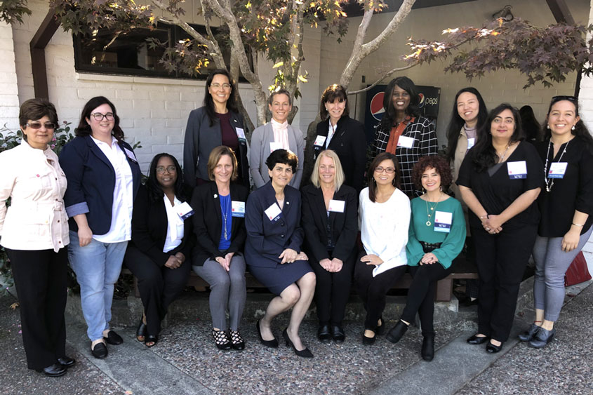 President Mary A. Papazian with women leaders.