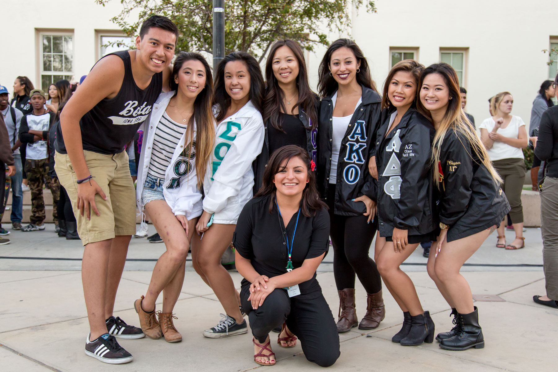Council of fraternities and sororities event at SJSU.