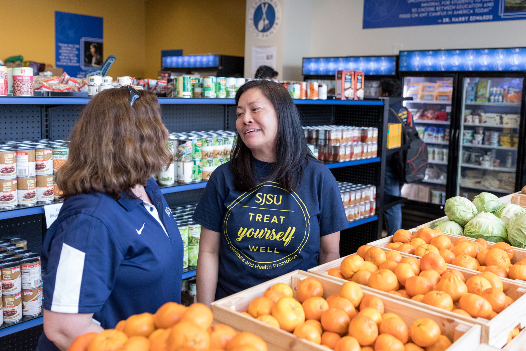 SJSU Care's Spartan Food Pantry grand opening.