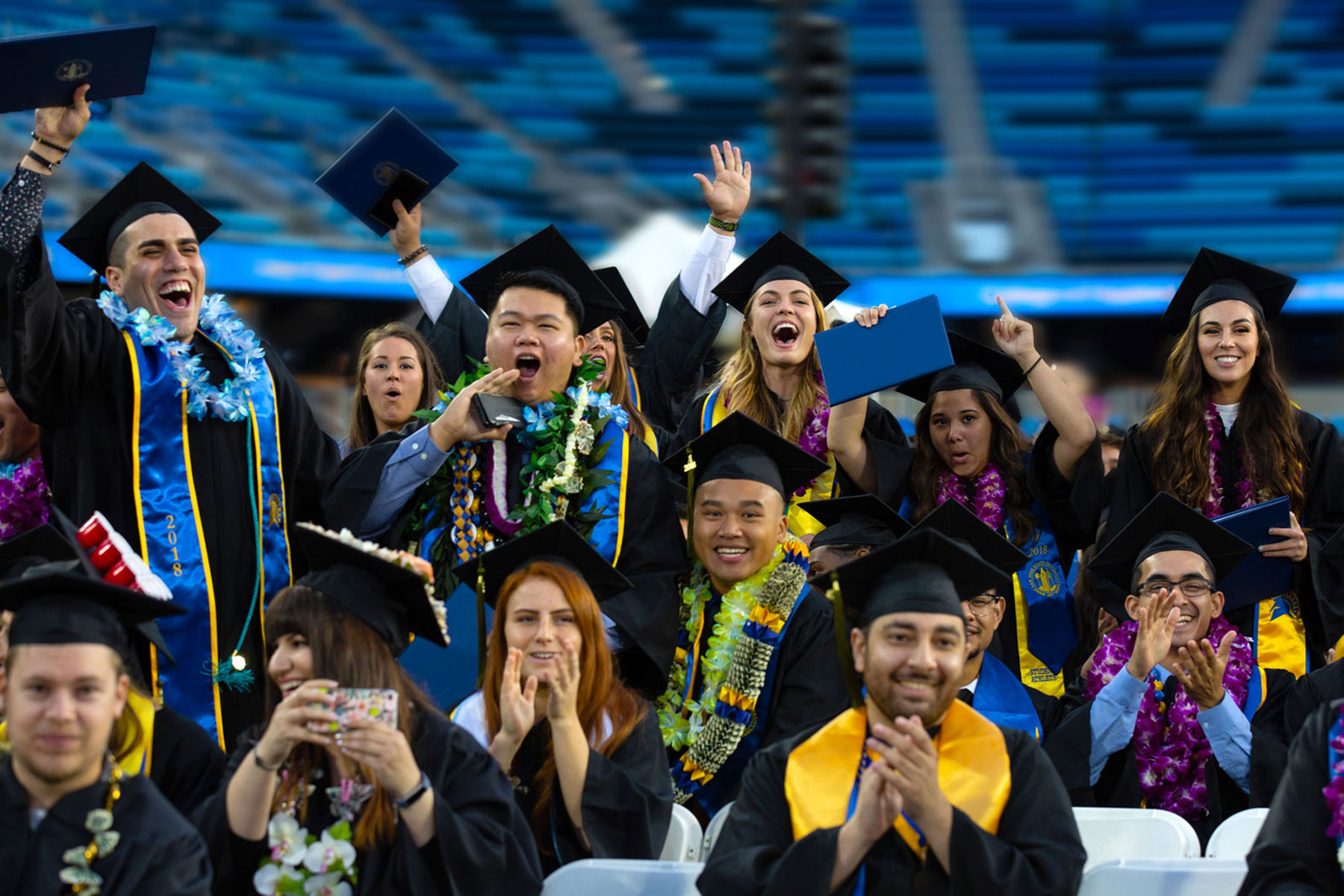 SJSU graduates at commencement ceremony