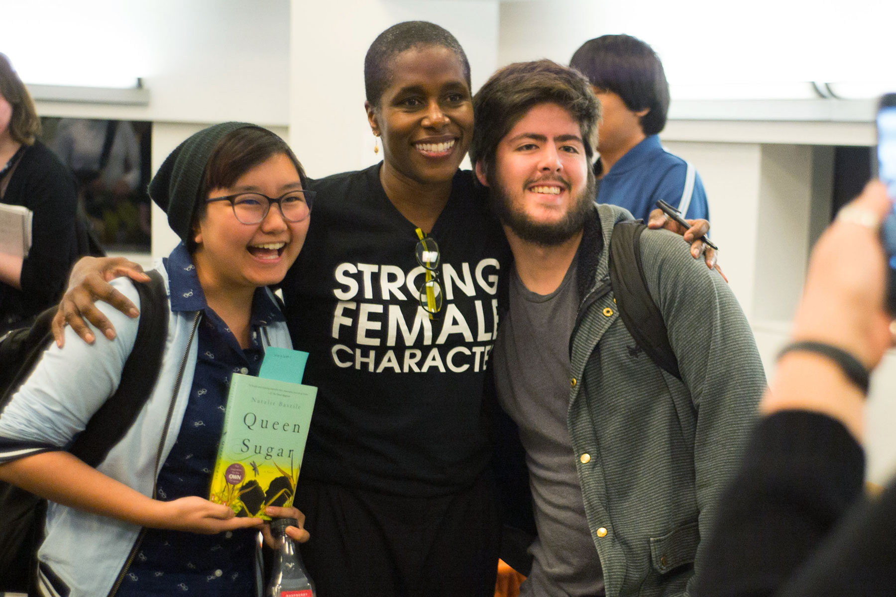 Center For Literary Arts guest author Natalie Baszile and SJSU students.