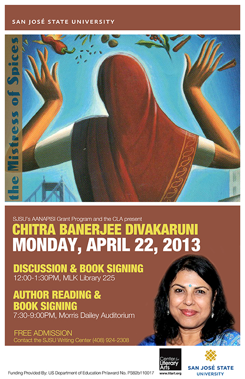 Chitra Banerjee Divakaruni against the Mistress of Spices cover