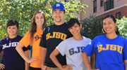Students in SJSU T-Shirts