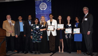 Kayla Parcero receives scholarship at Silicon Valley Engineering Council Banquet