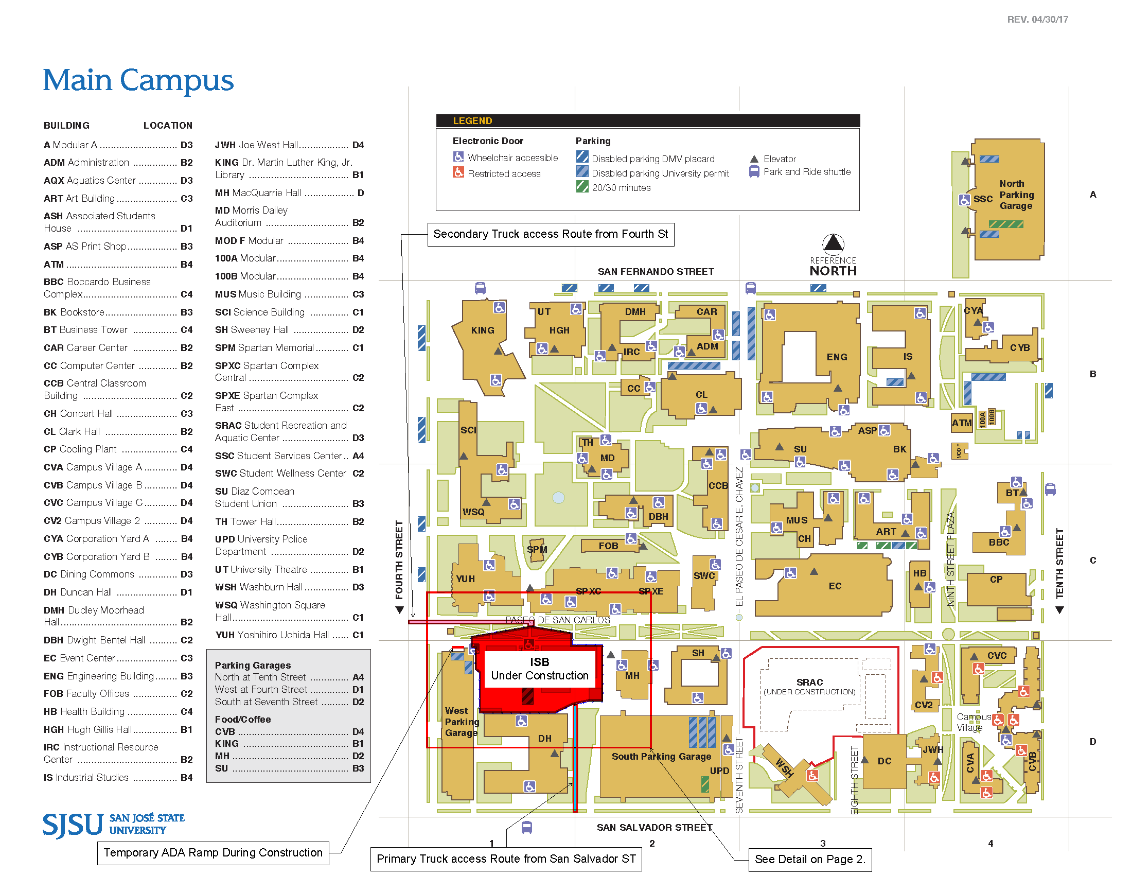 san jose state university map campus Announcements Accessible Education Center San Jose State san jose state university map campus