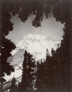 Edward Curtis photo of Mt Rainier