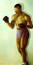 Oil painting of Joe Louis Barrow by Betsy Graves Reyneau, 1946