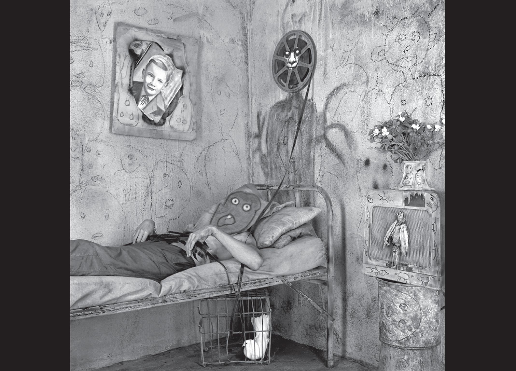 Roger Ballen is one of the most original image-makers of the twenty-first century. Asylum of the Birds showcases his iconic photographs, which were all taken entirely within the confines of a makeshift house in Johannesburg, South Africa. The inhabitants of the house, both people and animals, and most notably the ever-present birds, are the cast who perform within a sculptural and decorated theatrical interior that the author creates and orchestrates.