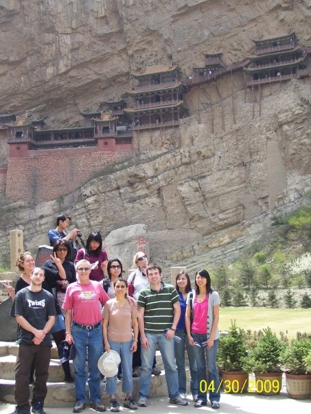 Hanging Temple, Shanxi, China with CSU students
