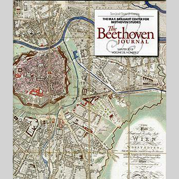 Cover of the Beethoven Journal showing map of Vienna