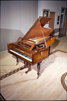 Photo of a Broadwood fortepiano and bench