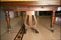 Footpedals of the Broadwood fortepiano