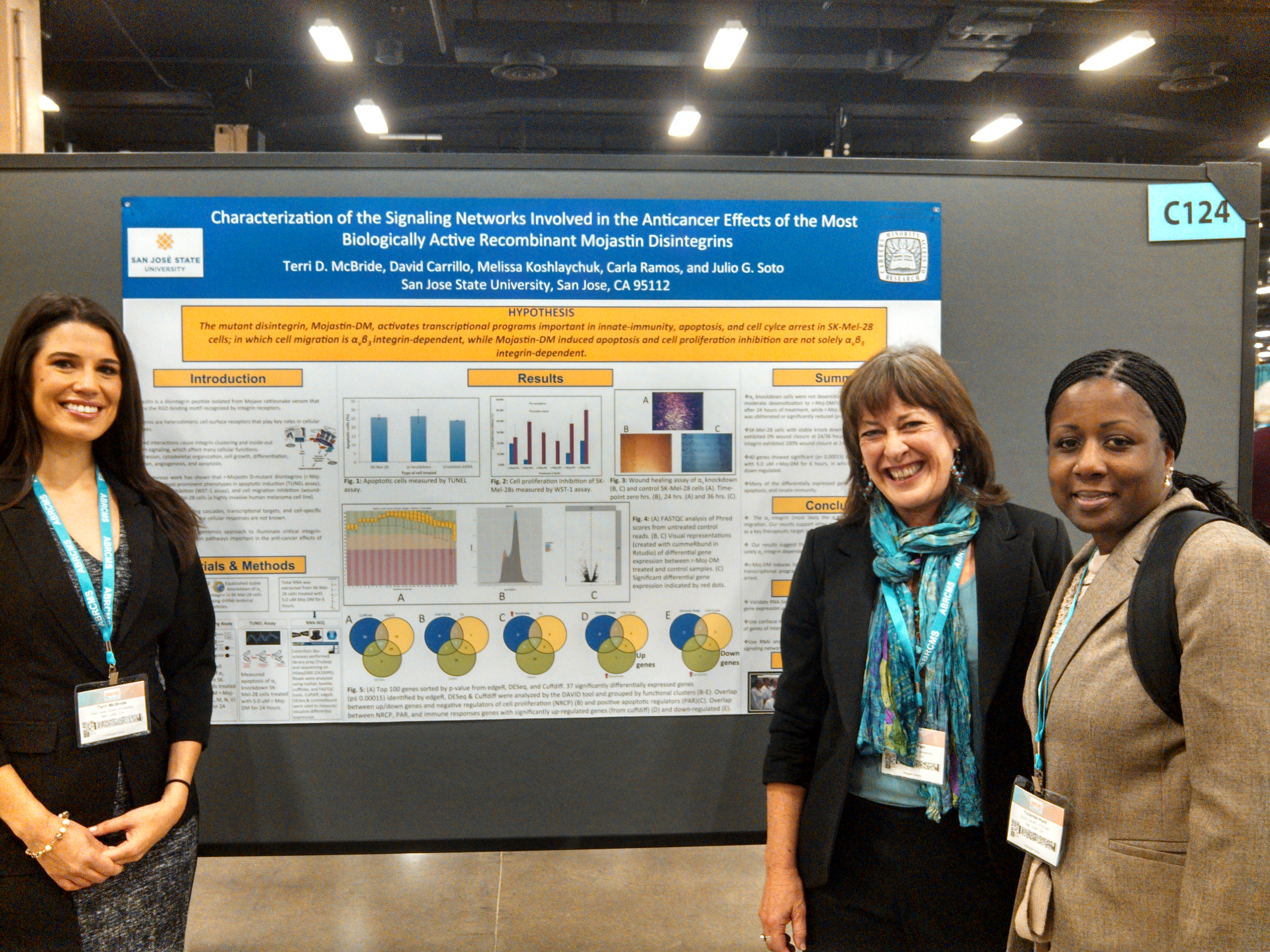 Students in front of a poster at the ABRCMS Conference