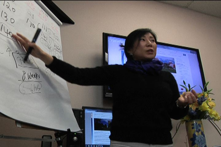 Dr. Han lecturing