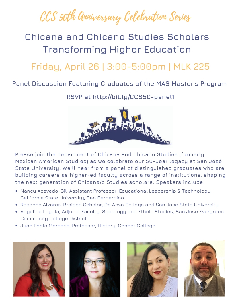Image of Chicana Chicano Studies Scholars Transforming Higher Education panel