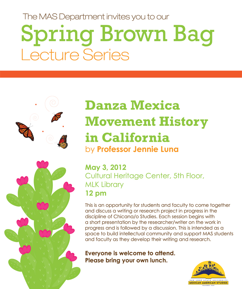 Danza Mexica Movement History brown bag lecture flyer