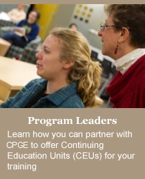 Program Leaders: Learn how to implement your professional Development and Continuing Education programs