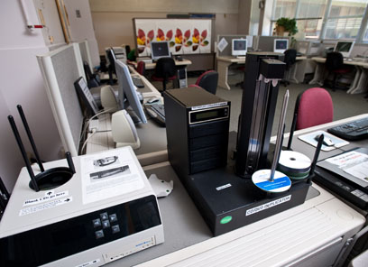Facility in IRC202 also consists of CDR and DVD duplicator and CD label printing equipment.