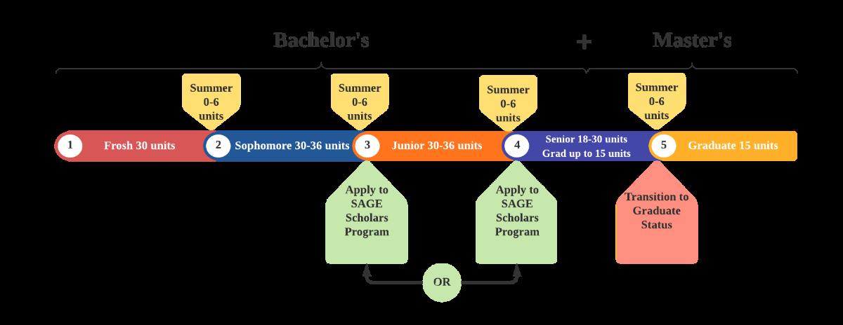 SAGE program timeline graphic