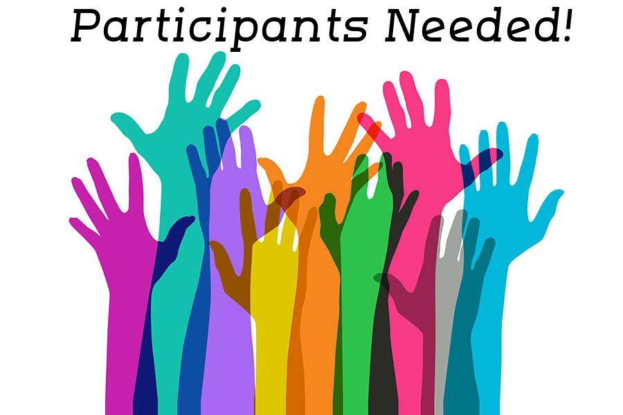 Hands raised to participate