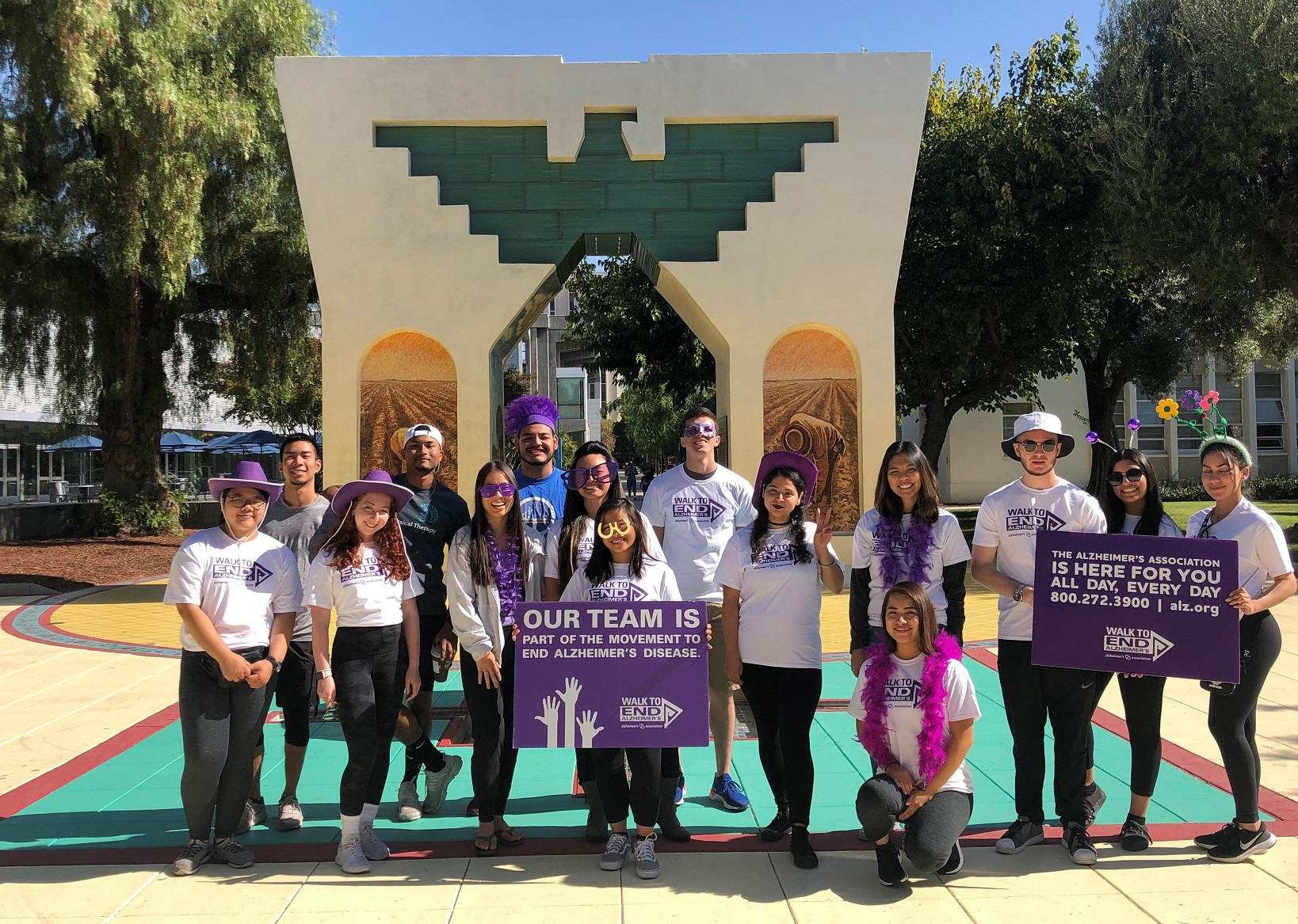Student affairs committee members participated in the Alzheimer's Walk 2019