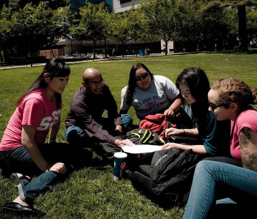Group of Students on Tower Hall Lawn