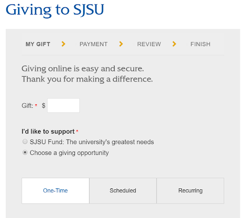 Giving to SJSU