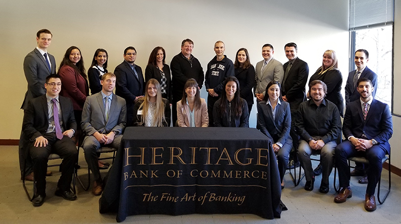 Honors Students at the Heritage Bank