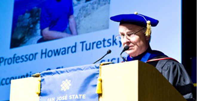 Dean David Steele tribute to Prof. Howard Turetsky