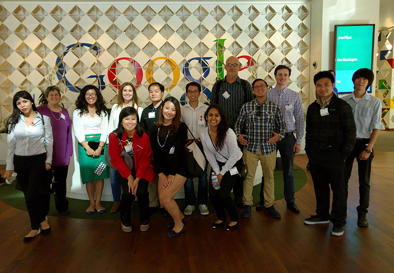 Students at Google Campus