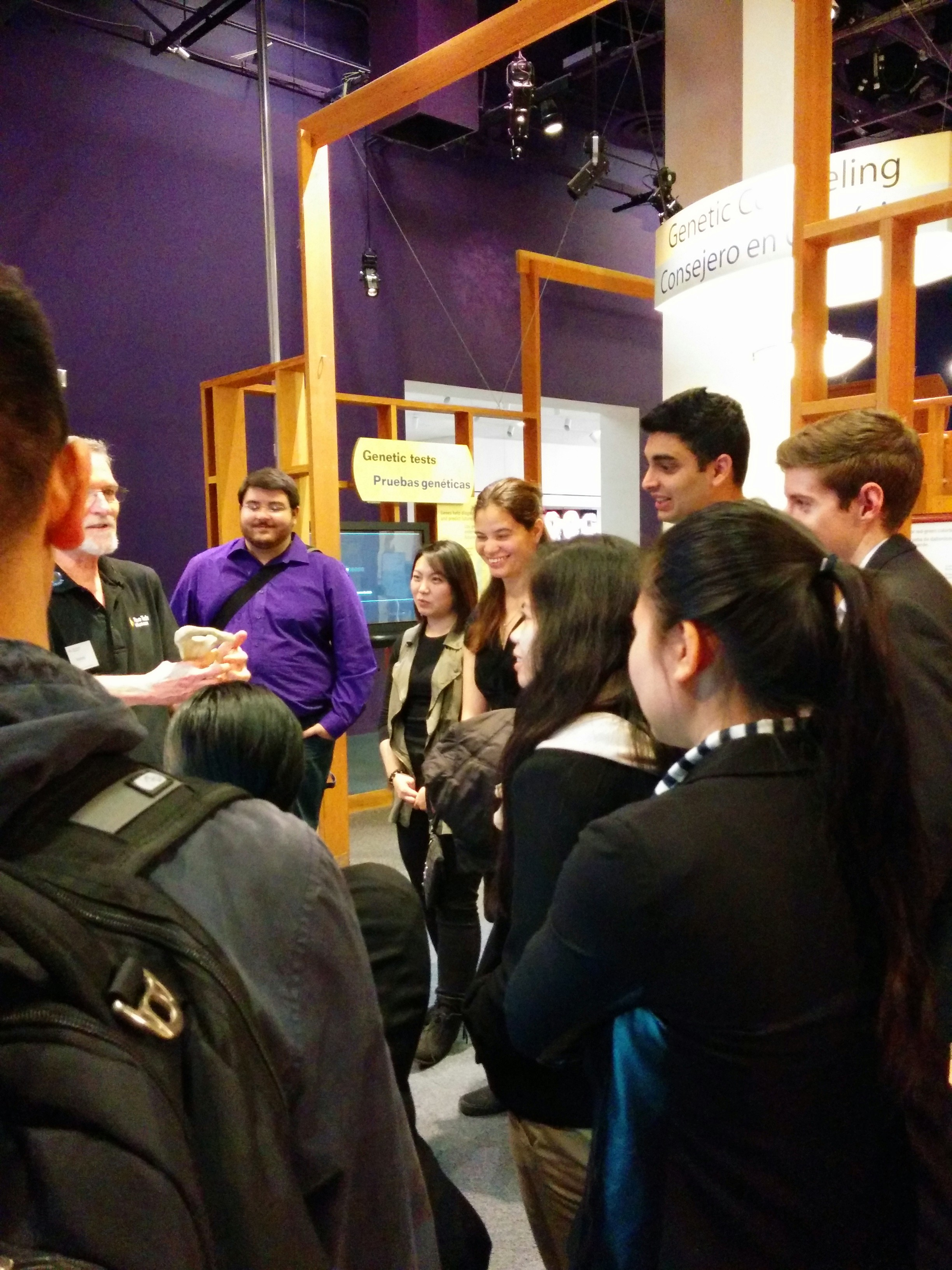 Gary J. Sbona Honors Students visited The Tech Museum for a behind-the-scenes tour