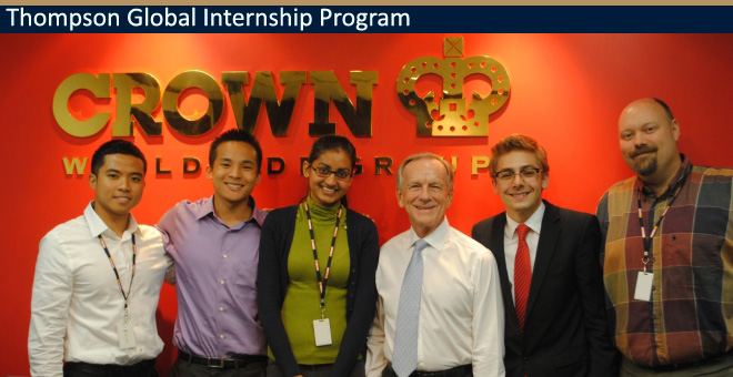 Thompson Global Internship Program Company Visit