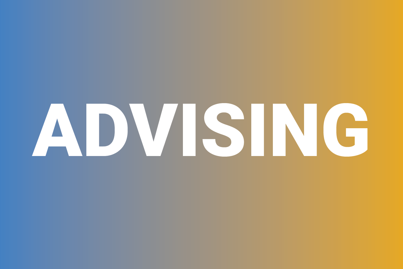 "A decorative image with the text ""Advising"""