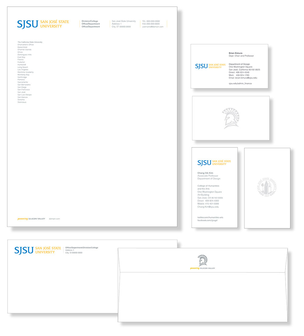sjsu business stationery strategic communications and marketing