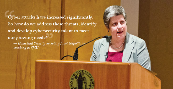 Janet Napolitano speaks at SJSU