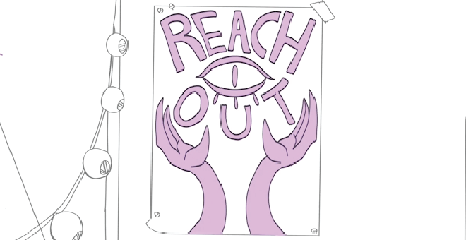 "Still of ""Reach Out"" animation."