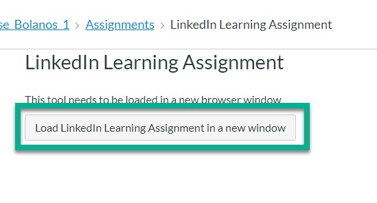 LinkedIn Learn Canvas Button