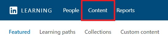 LinkedIn Learn Content Button