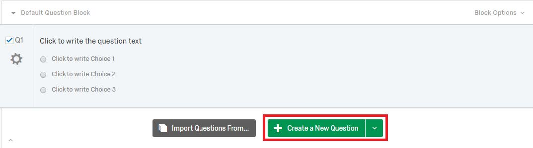 Create a new question screenshot