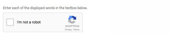 Captcha verification