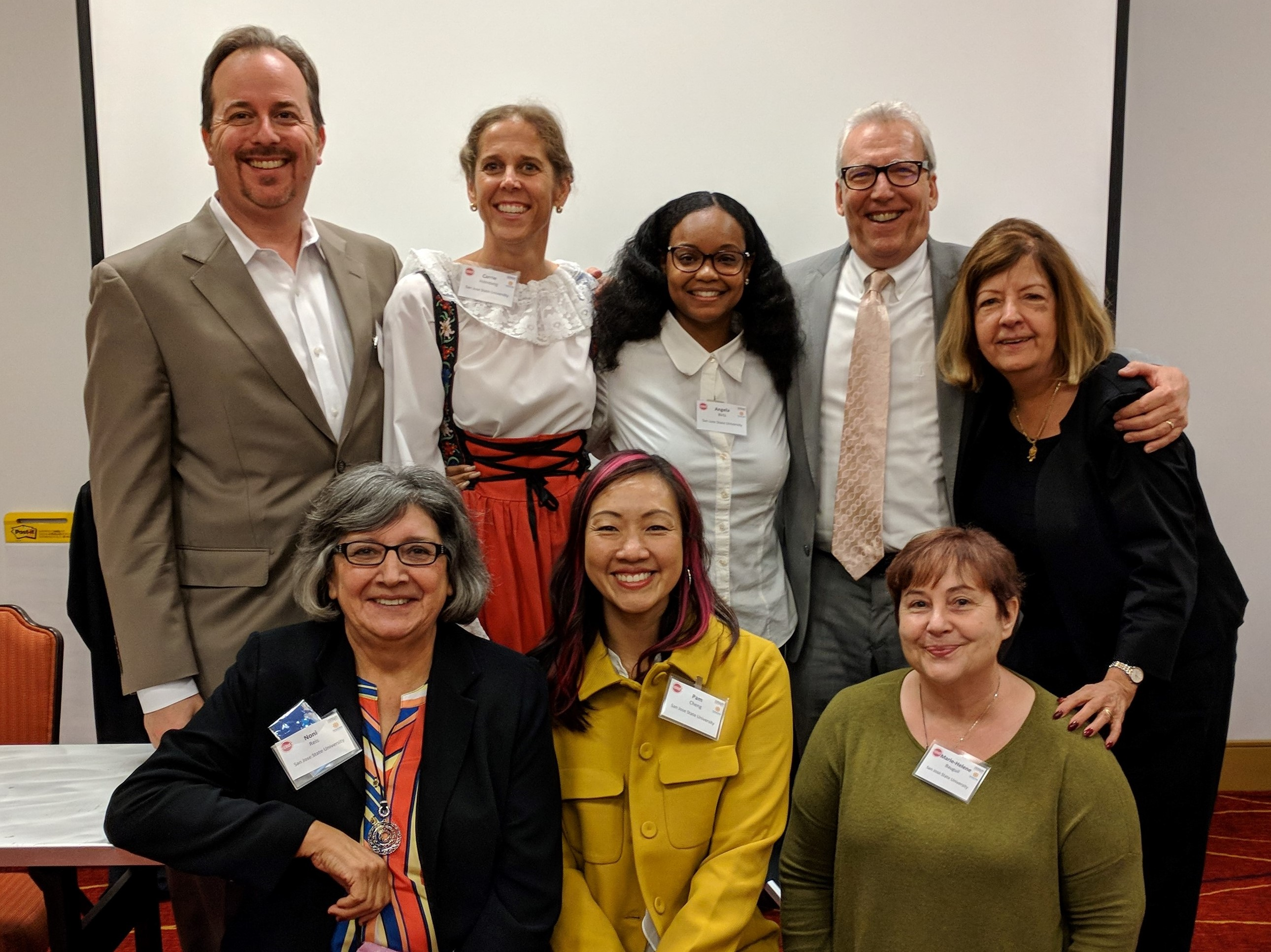 Ed.D. Graduates after presenting their dissertation topics at the Carnegie Endowment for the Educational Doctorate (CPED) Convening in October 2017
