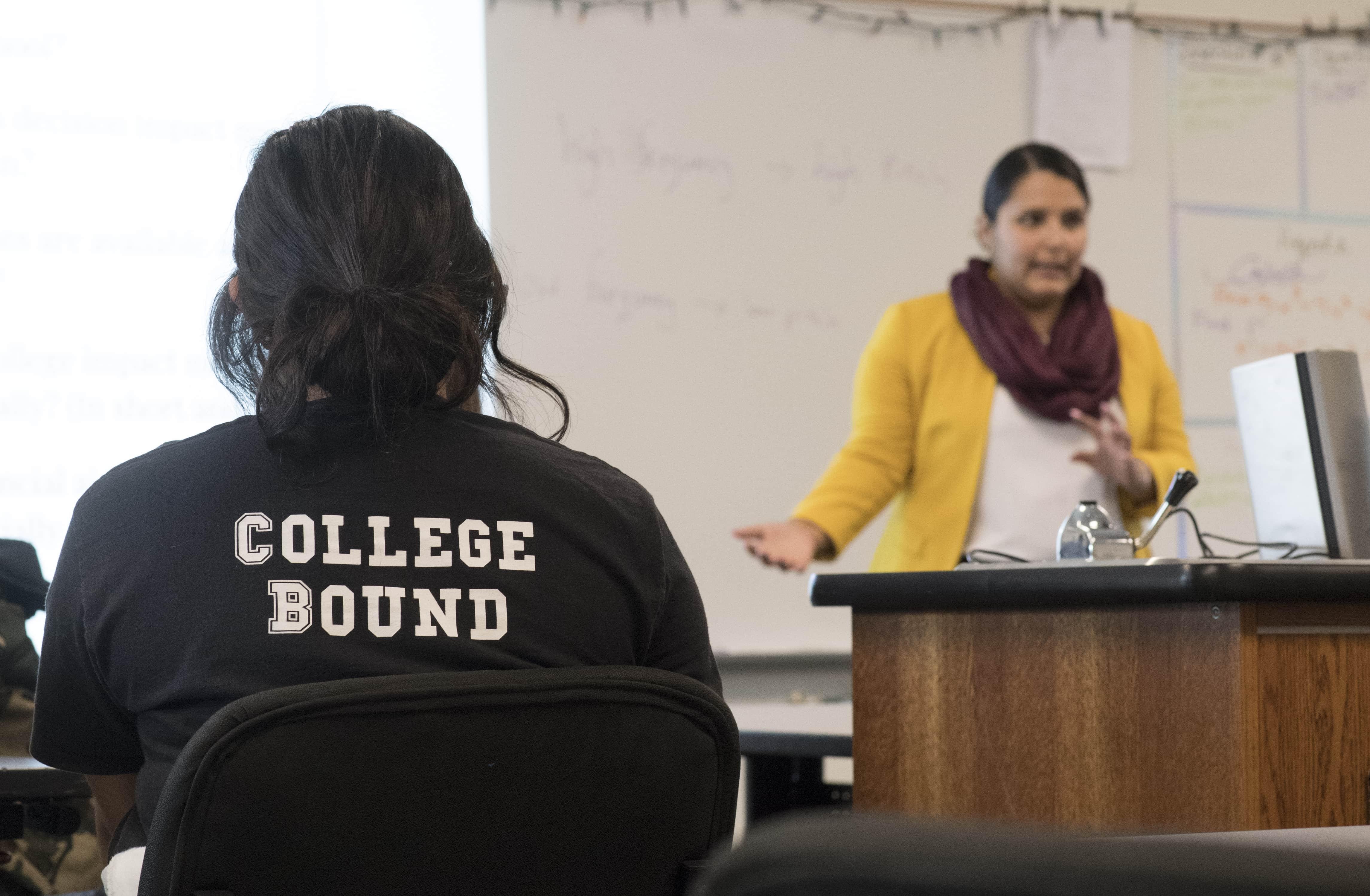 SJSU Lurie College Irene Castillon Teaches at Luis Valdez Leadership Academy