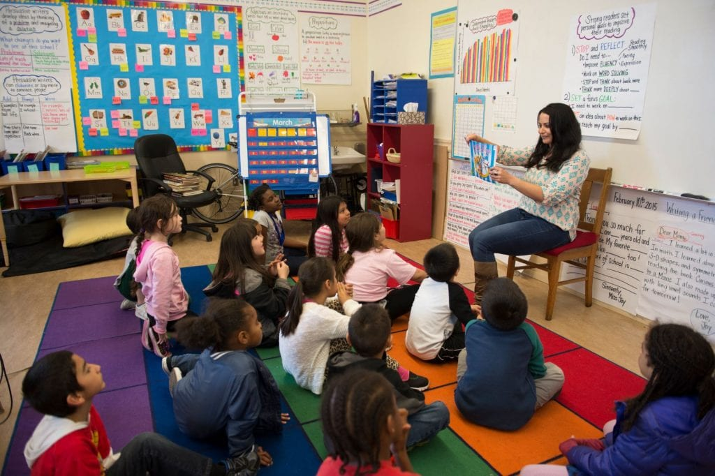 SJSU Lurie College of Education Alumni teaching in an elementary classroom