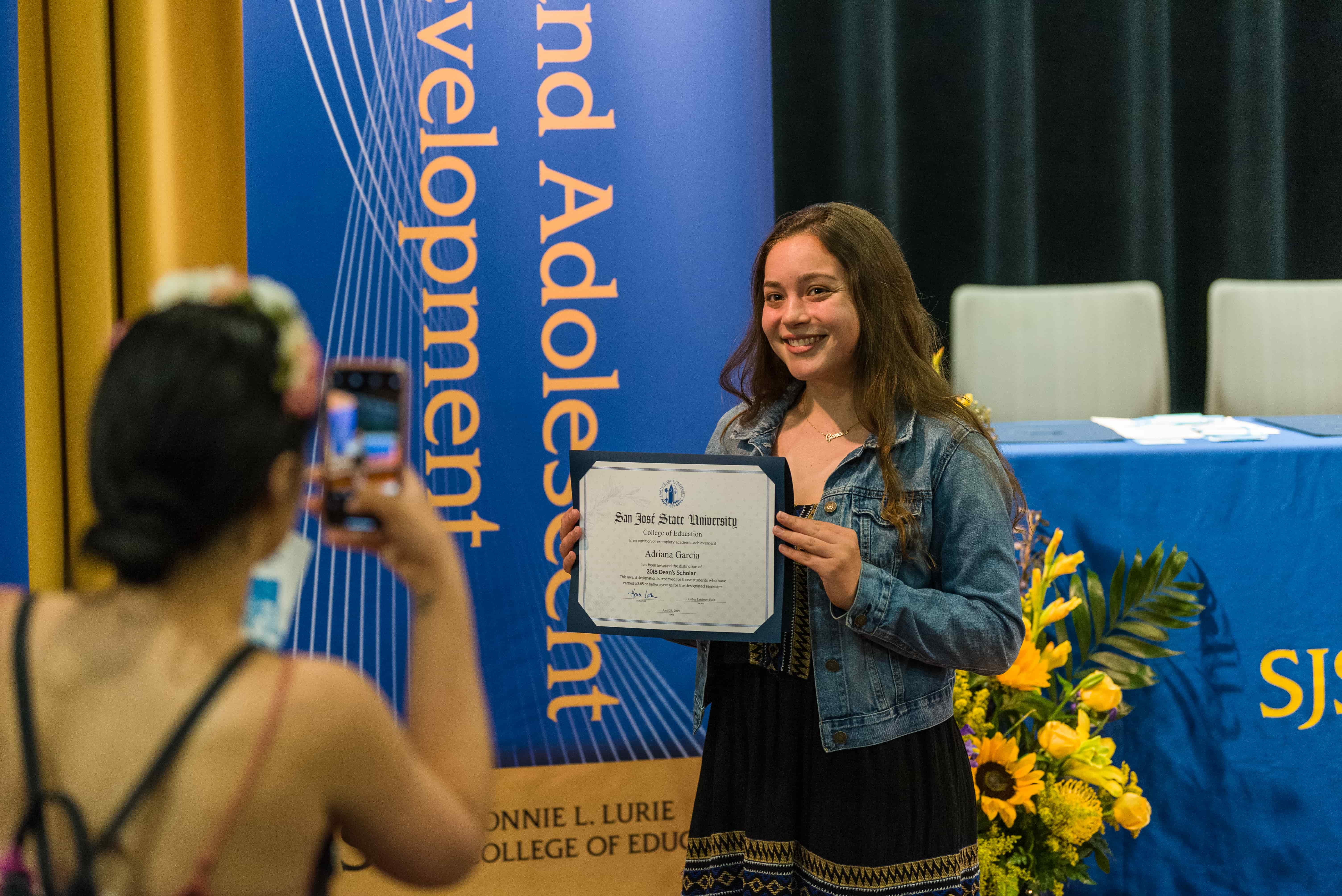 SJSU Lurie College of Education Deans Undergraduate Scholars Honors Ceremony