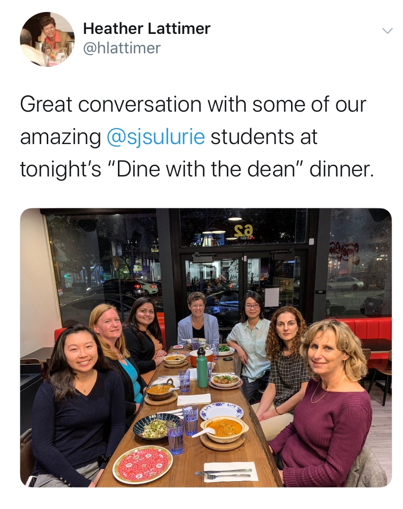 SJSU Lurie College of Education Dine with the Dean Tweet