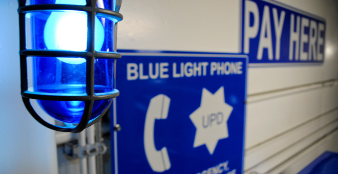 emergency blue light phone