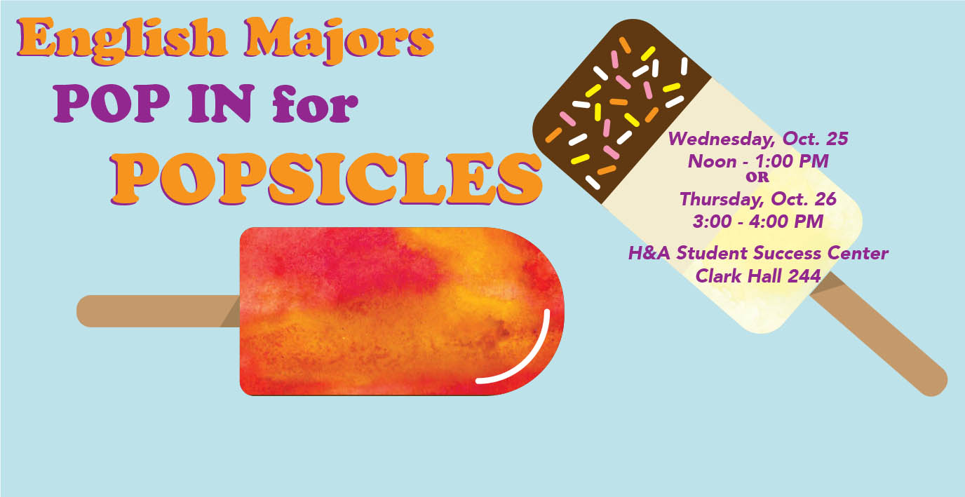 Pop In for Popsicles English Majors
