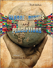 """Book cover of Rohatgi's """"Global Rights and Perceptions""""."""